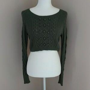 Moda International Green midriff sweater crop top